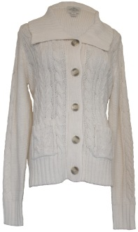 JC Penney St. John's Bay Cream Sweater