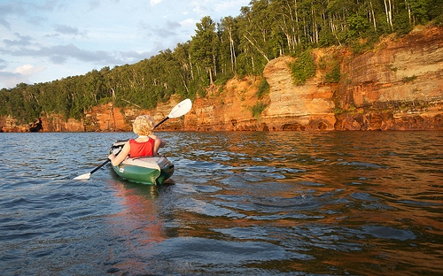 Kayaker Apostle Islands National Lakeshore via Flickr by Tim Wilson