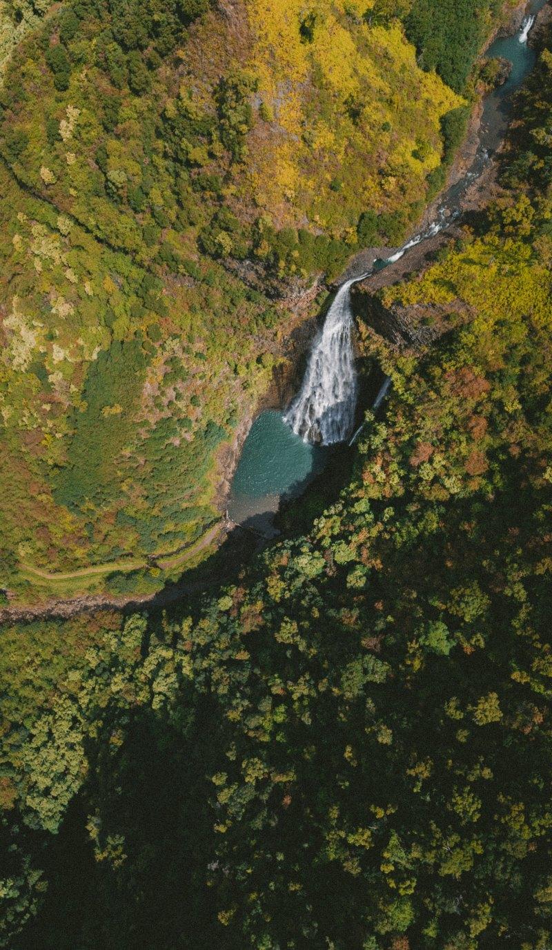 Kauai Garden Isle Waterfall Aerial photo by Jakob Owens on Unsplash @jakobowens1